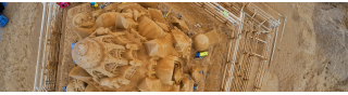 6400 tons sand<br>