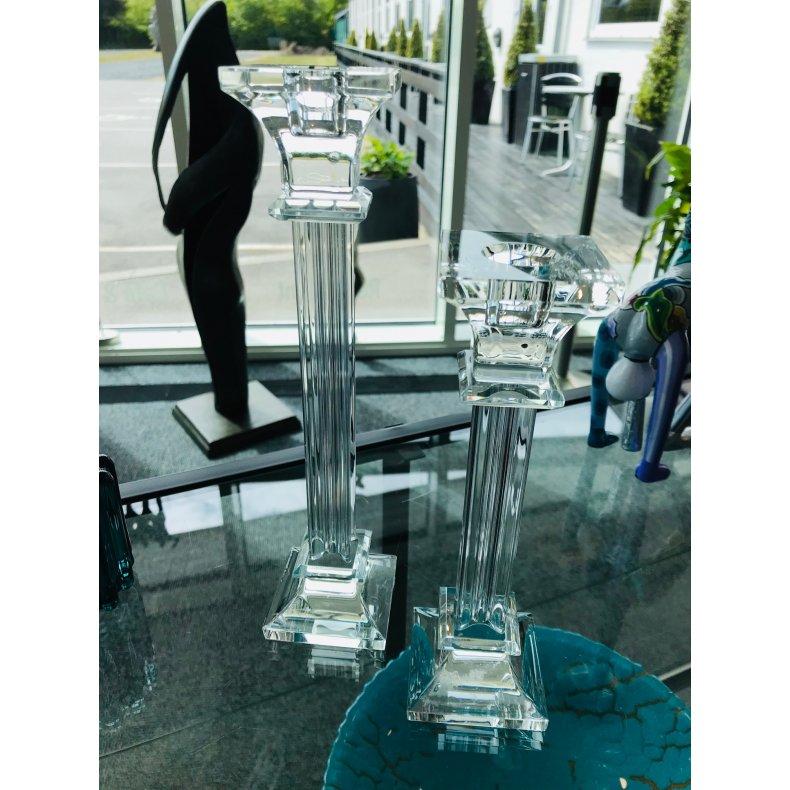 Elegant glaslysestage 20 cm.