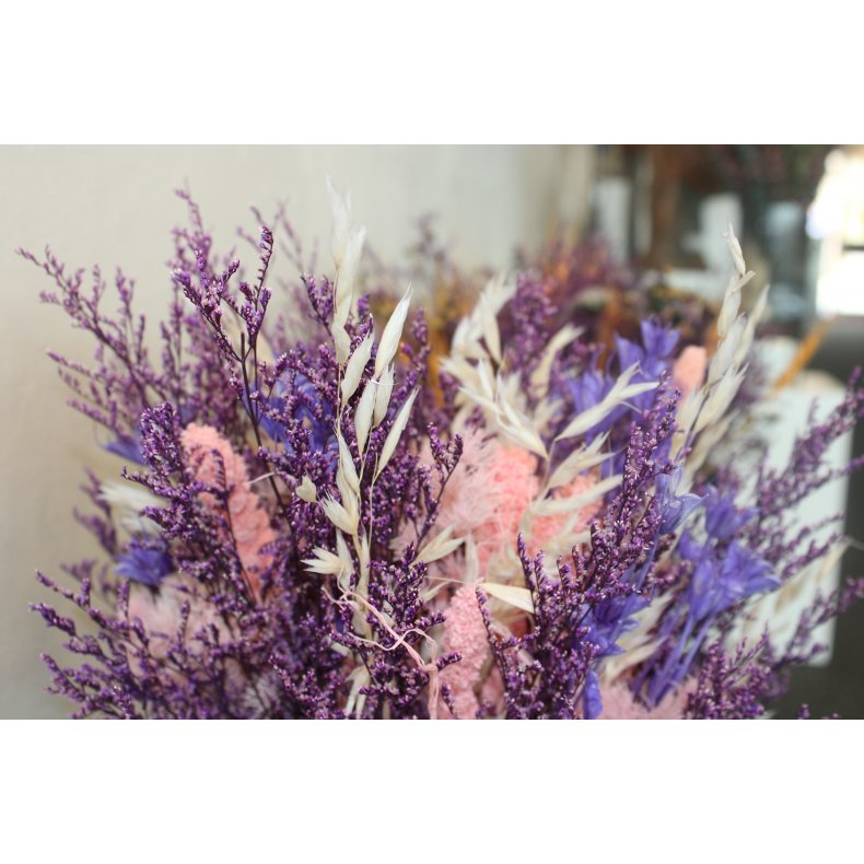 Evighedsbuket - rosa/lilla farver