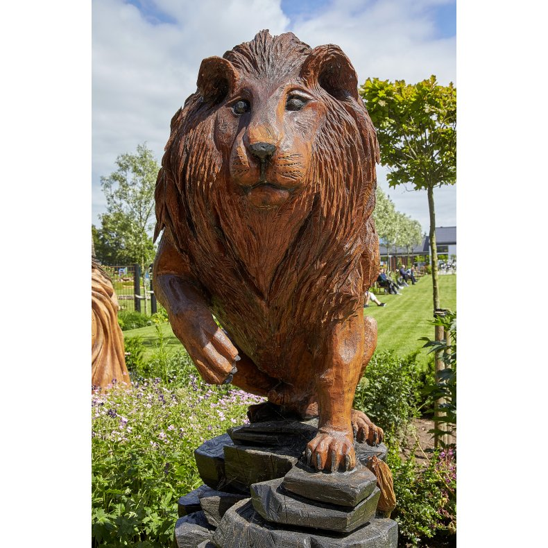 Træskulptur: Løve